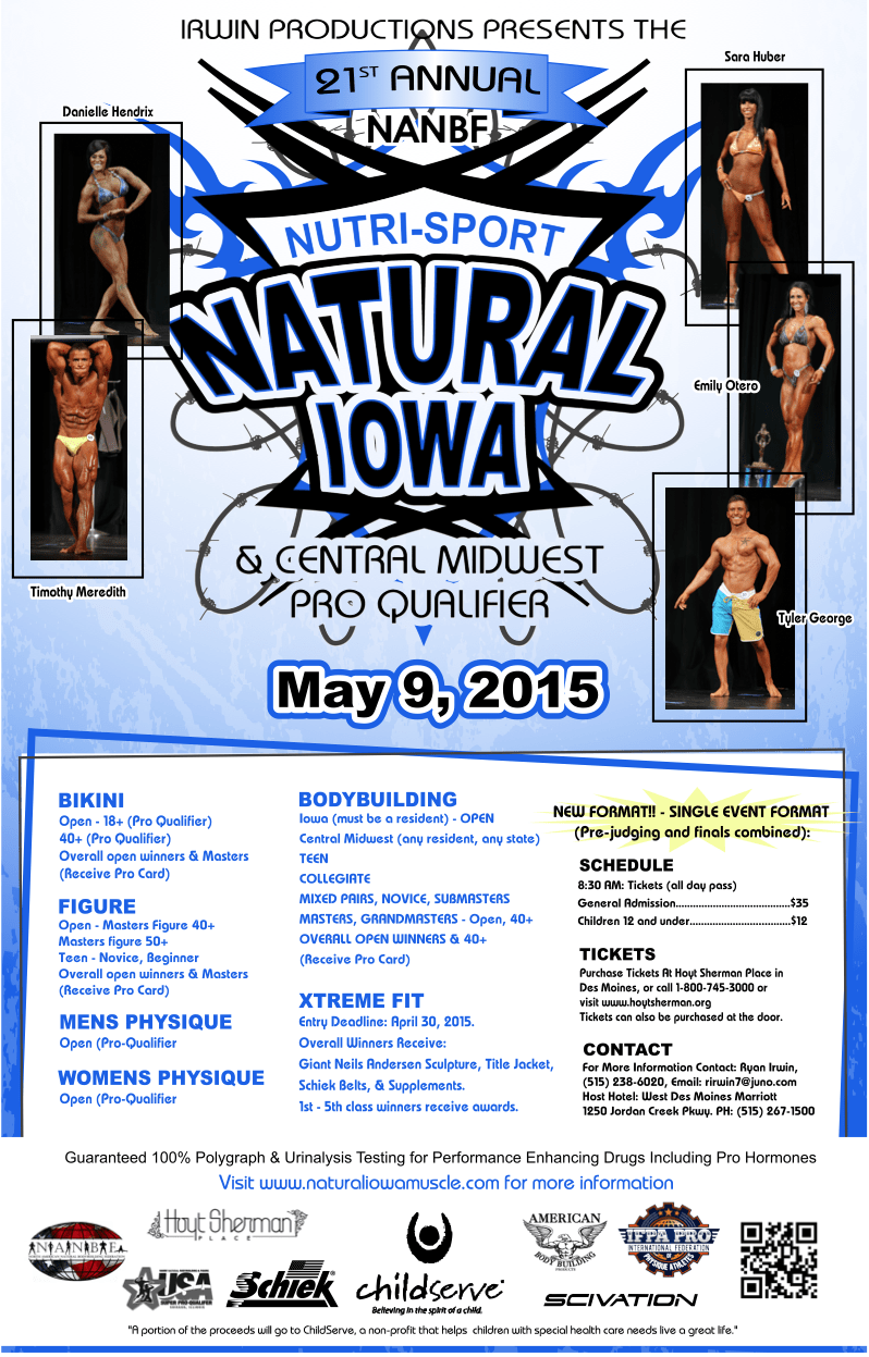 Tickets are now on sale for the 2015 NANBF Natural Iowa!
