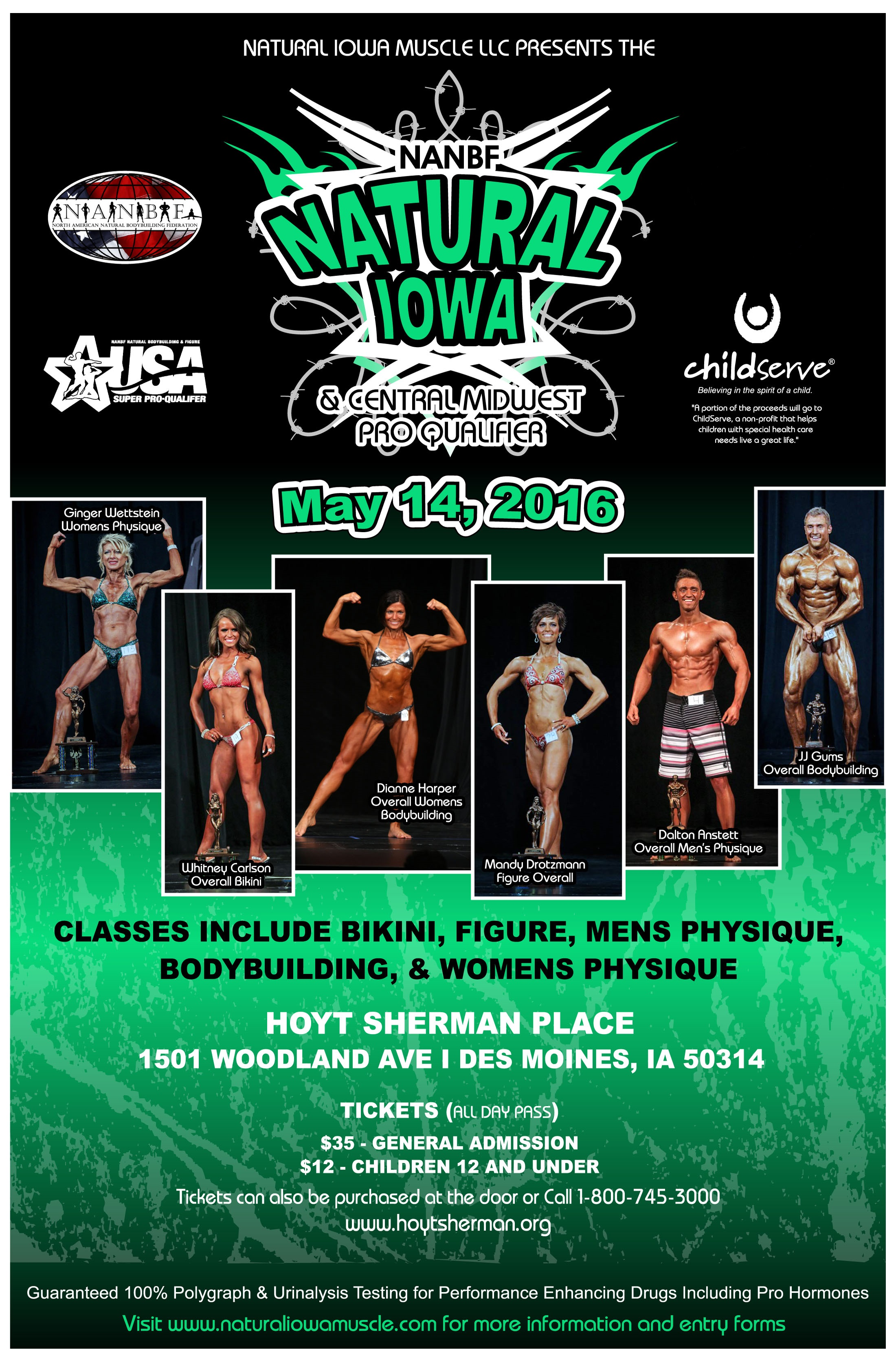 Information for the 2016 NANBF Natural Iowa!!
