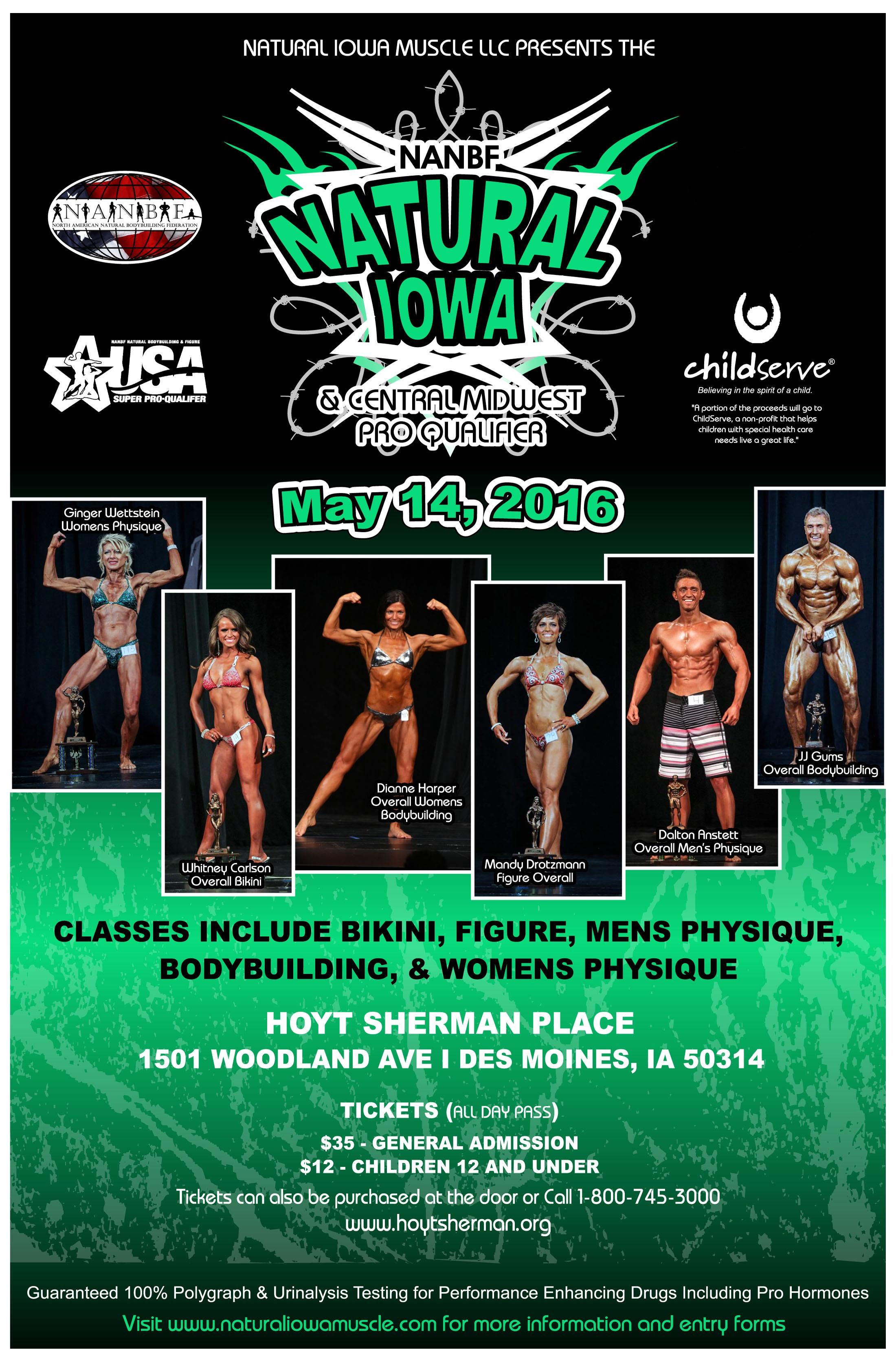 Information for the 2016 NANBF Natural Iowa!!