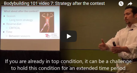 BODYBUILDING 101 VIDEO 7: THE STRATEGY AFTER THE CONTEST