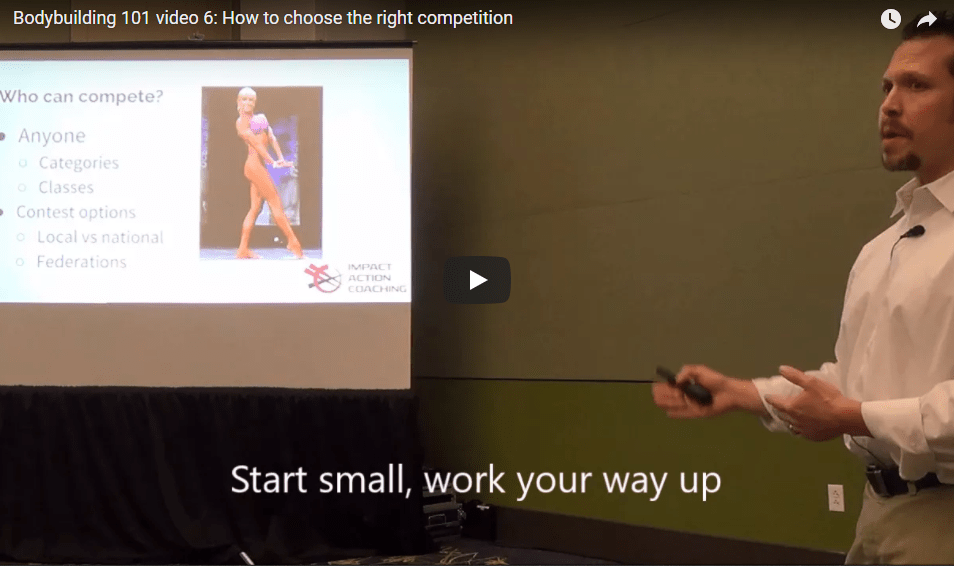 Bodybuilding 101 Video 6: How to Choose The Right Competition